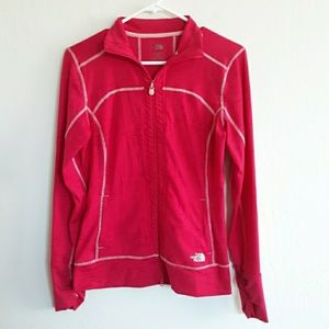 The North Face activewear zip jacket ruched